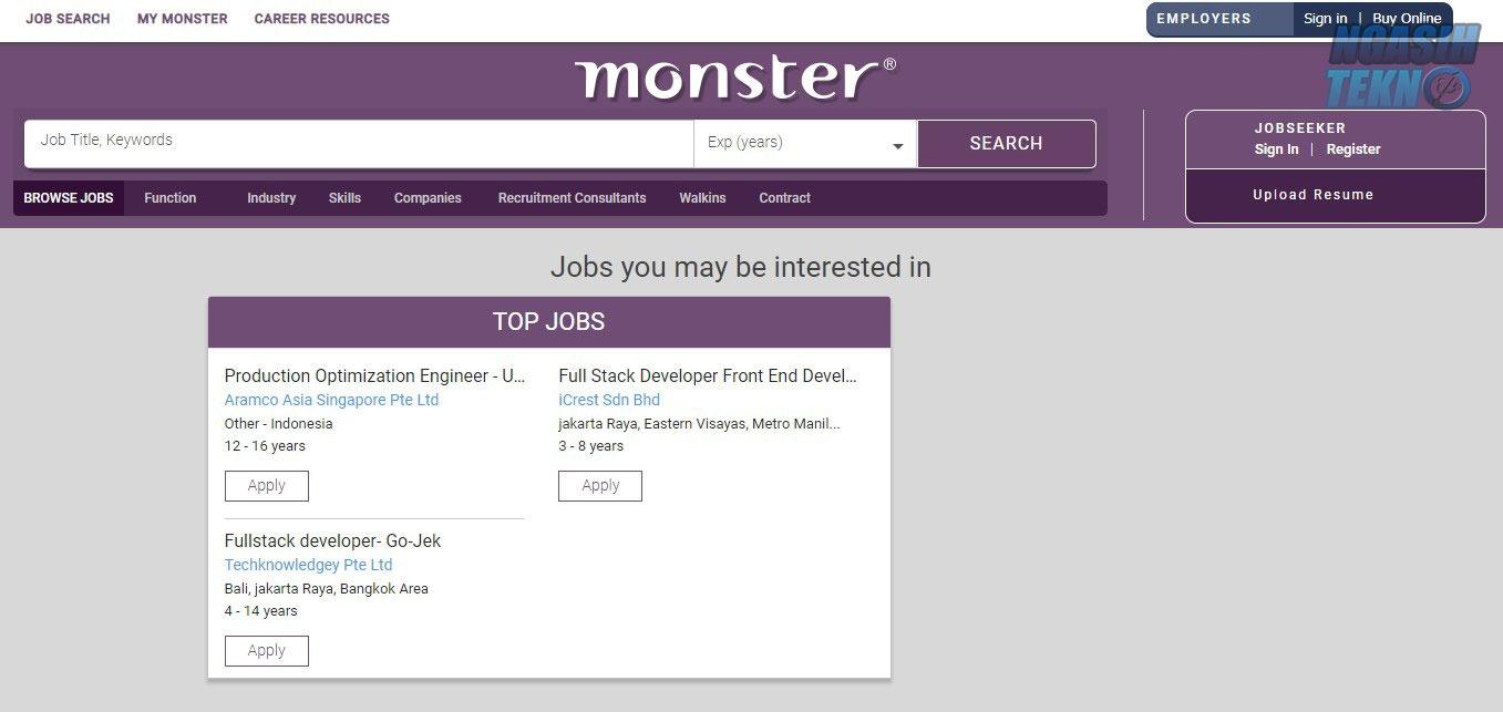 situs untuk mencari lowongan pekerjaan