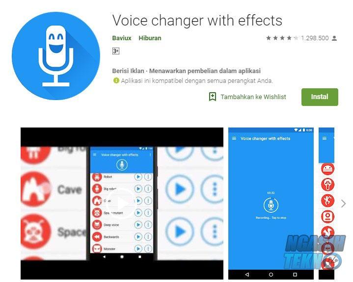 aplikasi pengubah suara di smartphone android