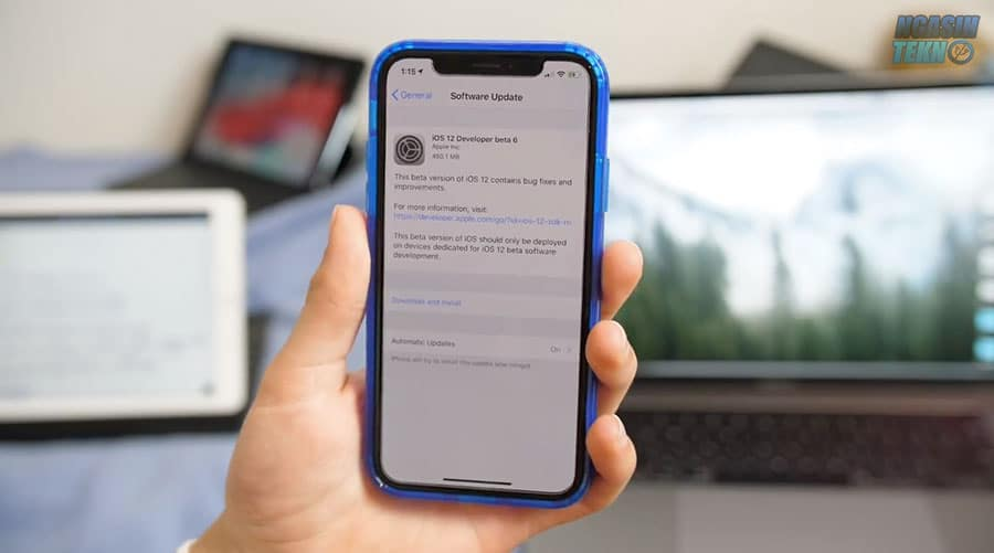 cara download dan install ios 12 public beta